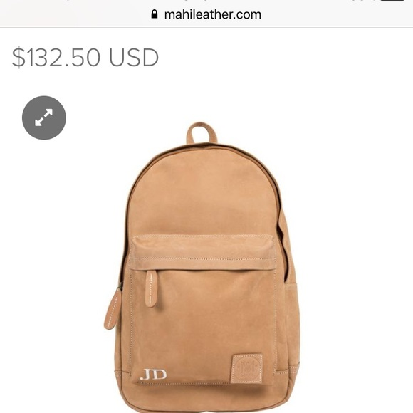 Mahi Leather Other - Personalized Jack Tan Brown Mahi Leather backpack cdc148ff38144